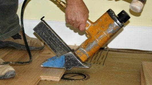 How to install hardwood flooring pro construction guide for Hardwood floors nail gun