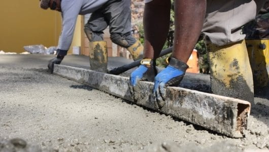 Pouring concrete drive Step 3