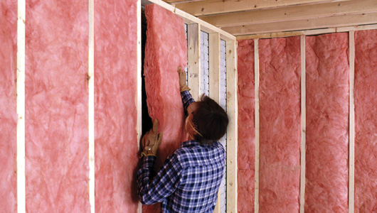 How to install fiberglass batt insulation for Wool wall insulation