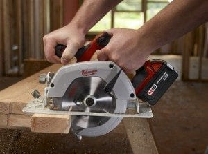 The 7¼- and 5⅜-inch blade saws are generally ideal