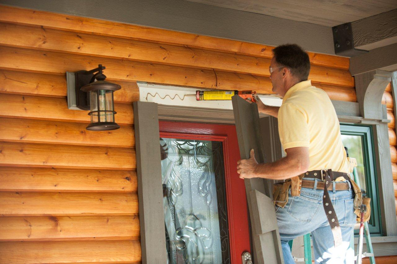 Installing exterior window trim - Apply Adhesive Before Fastening The Pieces In Place