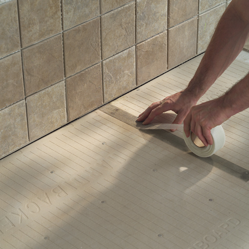 Concrete Joint Tape : How to install cement backer board pro construction guide