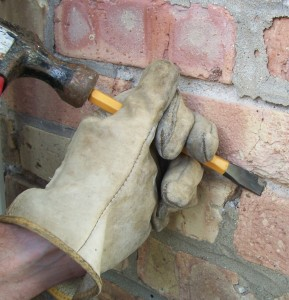 Clean out the damaged joint as thoroughly as possible.
