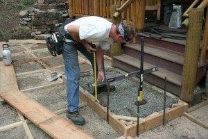 Building a custom patio