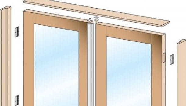 Hung door make the unit plumb sc 1 st do it yourself for Pre hung doors
