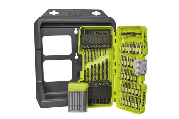 Ryobi accessory kit with dockit storage tray pro