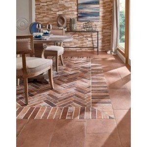The look of brick in a porcelain tile