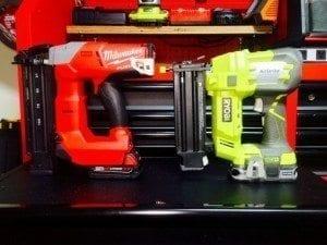 Ryobi AirStrike cordless nail gun and M18 Fuel cordless nail gun