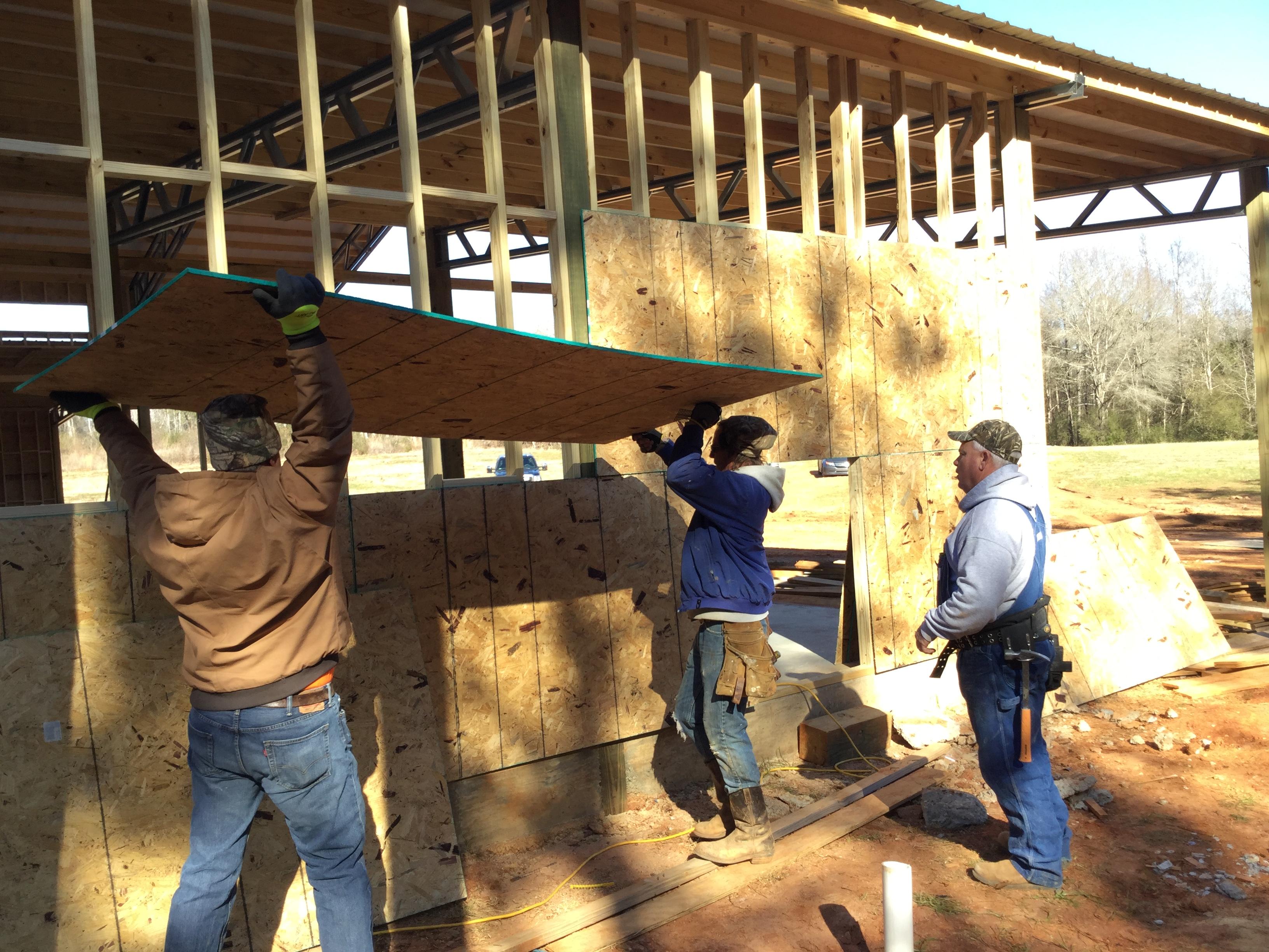 Installing Plywood Sheathing And House Wrap