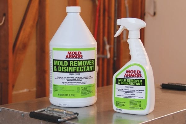 Armor mold remover and disinfectant
