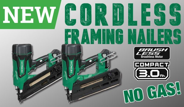 New cordless framing nailers from Hitachi