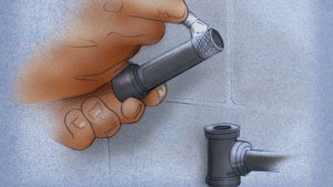 Install a T-valve to the existing gas line