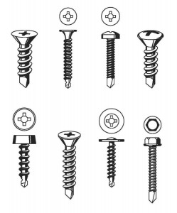 Self-tapping or self-threading screws