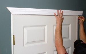 Use reveal marks to measure door and window casing in place