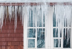 ice dams occur when the temperature on the upper part of the roof is warmer