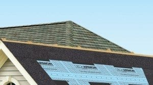Installing a leak barrier under roofing to protect leak-prone areas