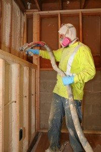 Blown-in and loose-fill insulation in an attic space requires a thick laye