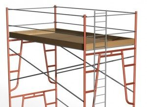 A safe frame scaffolding setup should always be solid and level.
