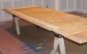 To install wainscoting begin by setting up a work area