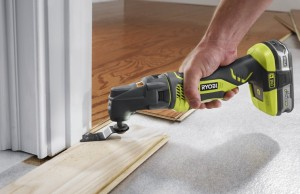 One of the best uses for a multi-tool is undercutting door jambs