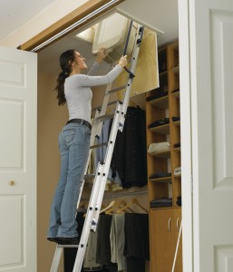 An attic ladder is a smart choice to maximize the use of attic spaces