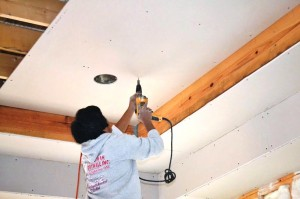 How to install a drywall ceiling 4