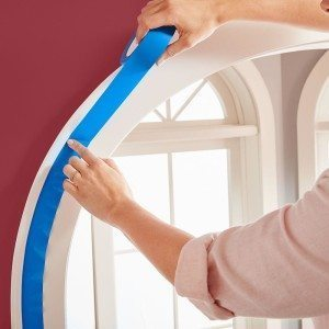 ScotchBlue Platinum Painters tape is ideal for painting molding and curved areas.