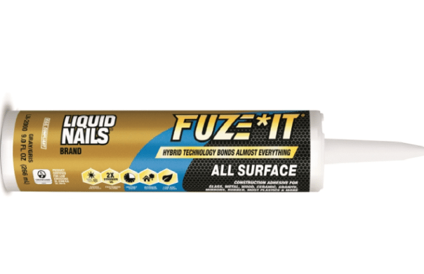 Liquid Nails fuze it all-surface construction adhesive.