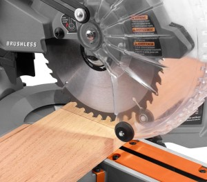 Ridgid miter saw delivers more than twice as many cuts per charge