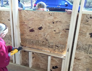 Installing plywood sheathing