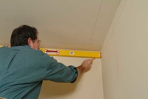 Once you have the molding, measure the walls again, from corner to corner