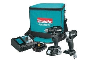 Makita 18 volt sub-compact cordless drill and impact driver 2 piece combo kit