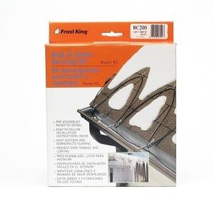 Cold weather preparation: de-icing-cable