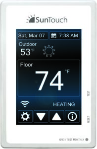 Using SunStat Connect, homeowners can control their floor heating systems from the couch