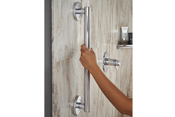 Delta contemporary decorative concealed screw grab bar in chrome