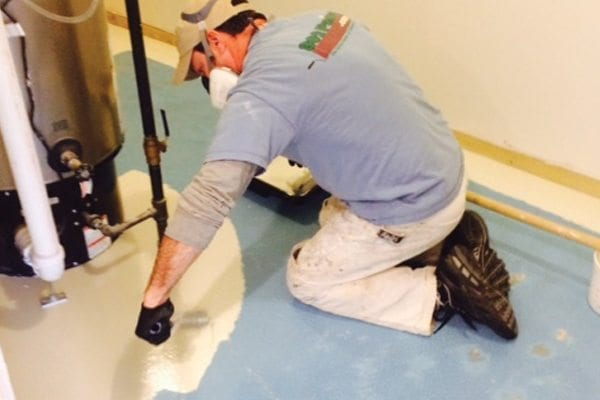 Painting concrete floors