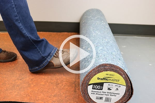 This flooring fiber underlayment helps save time