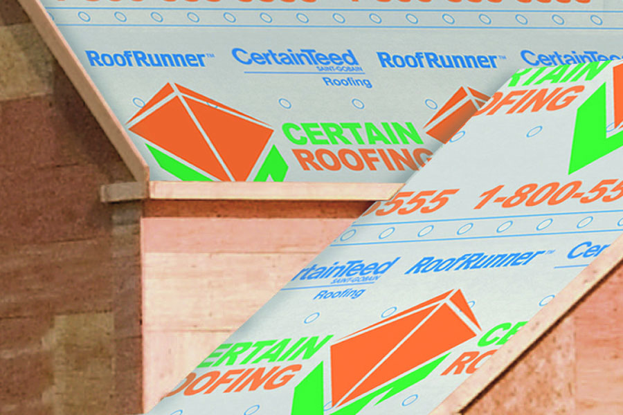Roof underlayment lets roofers brand jobsite