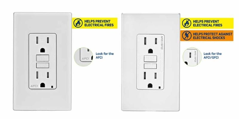 AFCI Outlet and AFCI/GFCI Dual Function Outlet from Leviton