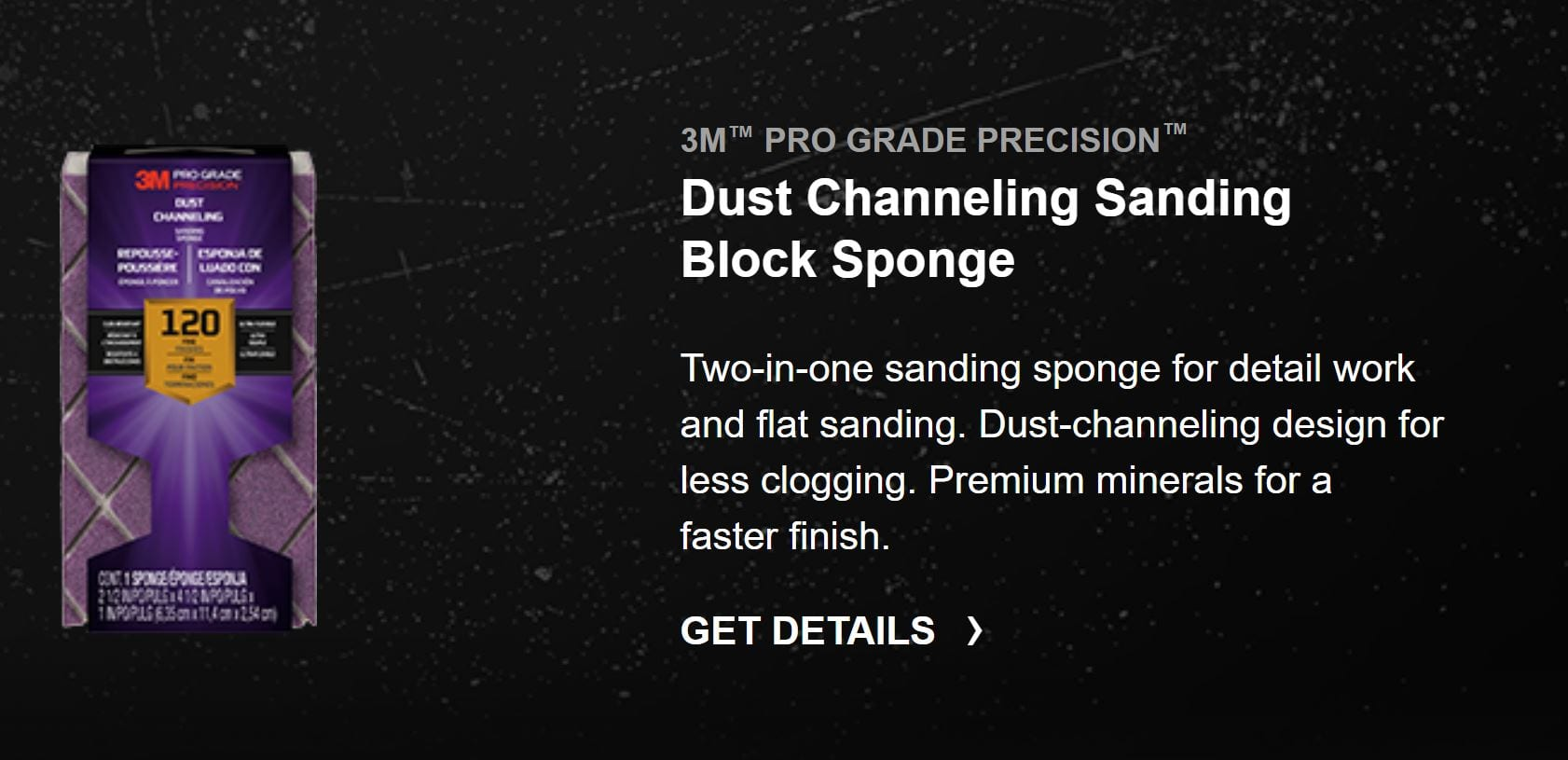 Dust Channeling Sanding Block Sponge