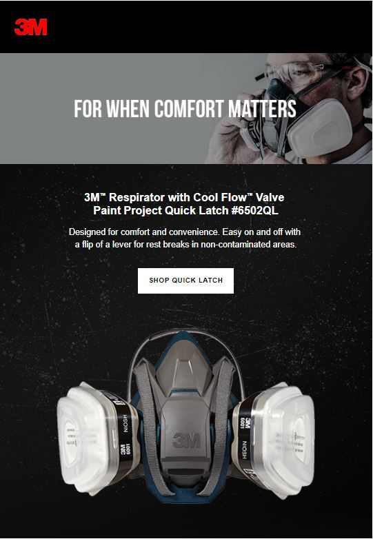 3M paint project respirators with Cool Flow Valve