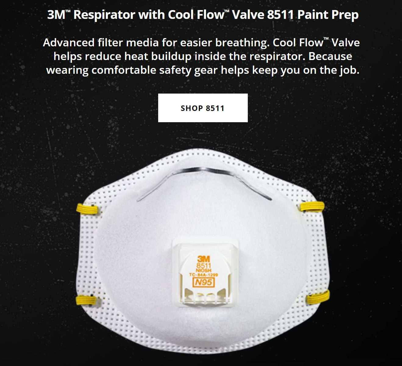 3M respirators with Cool Flow valve for better breathing.